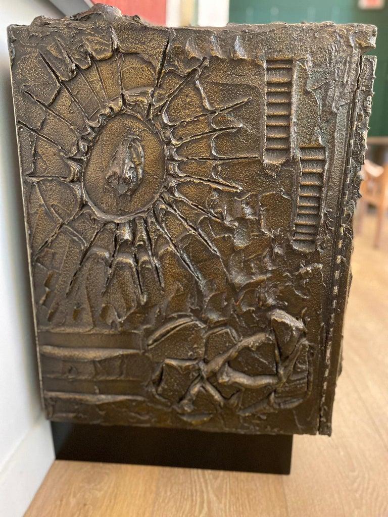 Paul Evans Sculpted Bronze Brutalist Sideboard, USA, 1969 For Sale 1