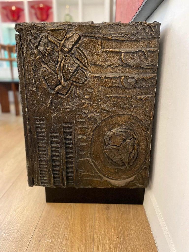 Paul Evans Sculpted Bronze Brutalist Sideboard, USA, 1969 For Sale 2