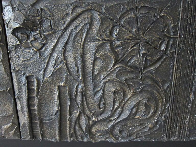 Paul Evans Sculpted Bronze Brutalist Sideboard, USA, 1972 For Sale 4