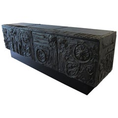 Paul Evans Sculpted Bronze Brutalist Sideboard, USA, 1972