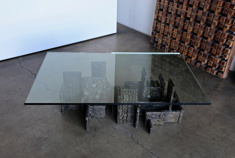 Paul Evans Sculpted Bronze Coffee Table, 1972 For Sale 4