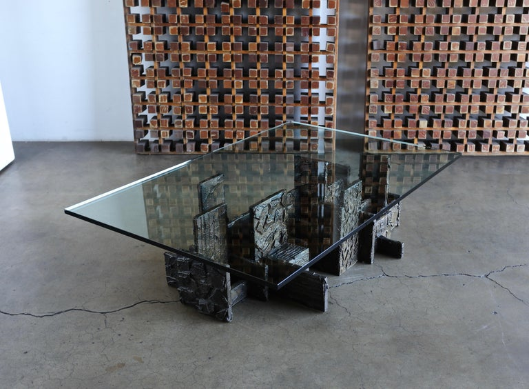 Paul Evans Sculpted Bronze Coffee Table, 1972 For Sale 9