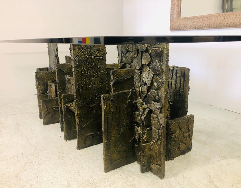 Paul Evans Sculpted Bronze Dining Conference Table, 1974 For Sale 10