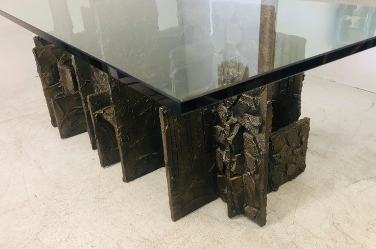 Paul Evans Sculpted Bronze Dining Conference Table, 1974 For Sale 2
