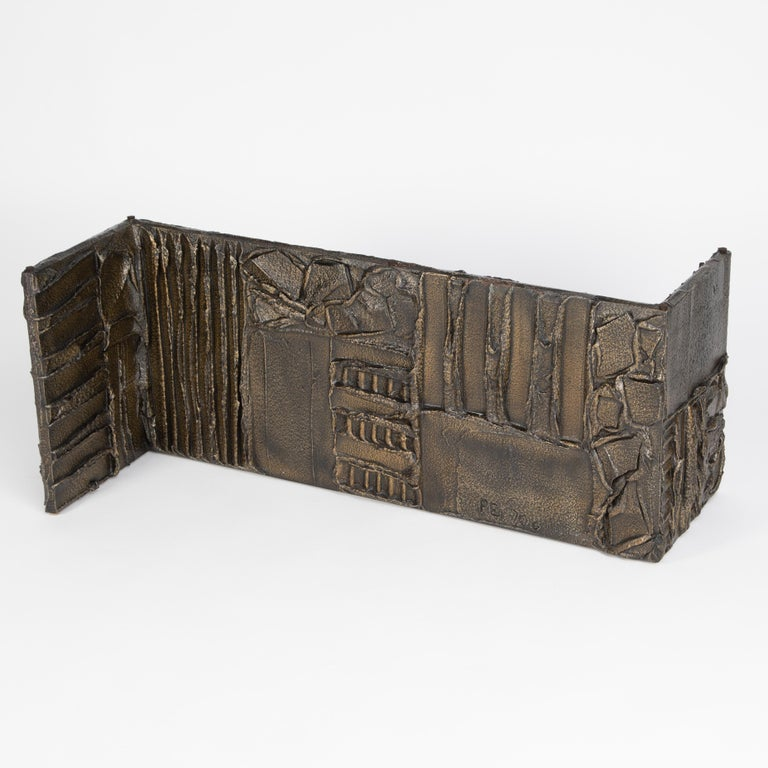 Paul Evans Sculpted Bronze Rectangular Coffee Table, 1970 For Sale 5