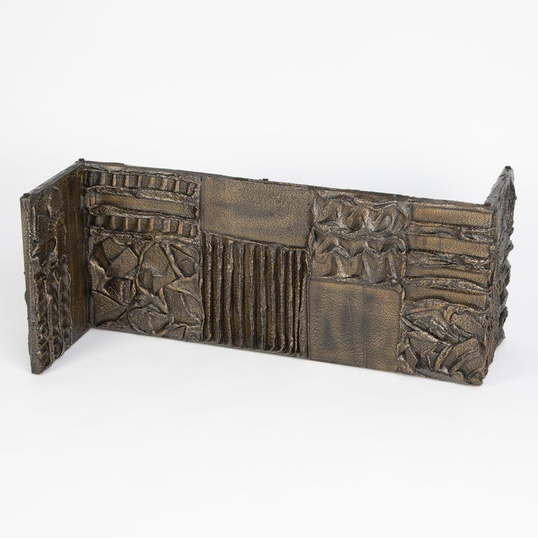 Paul Evans Sculpted Bronze Rectangular Coffee Table, 1970 For Sale 6