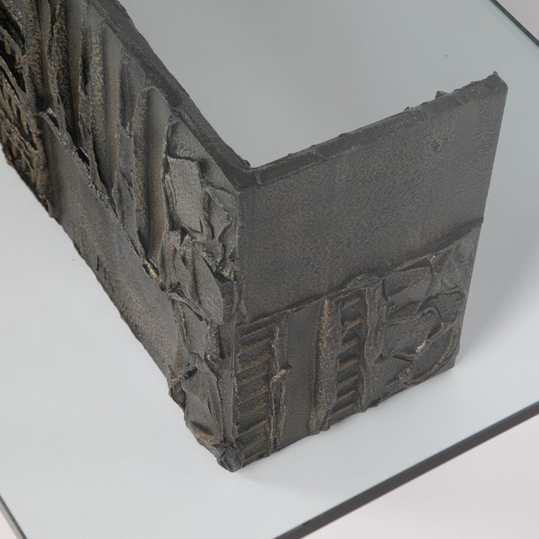 Paul Evans Sculpted Bronze Rectangular Coffee Table, 1970 For Sale 2
