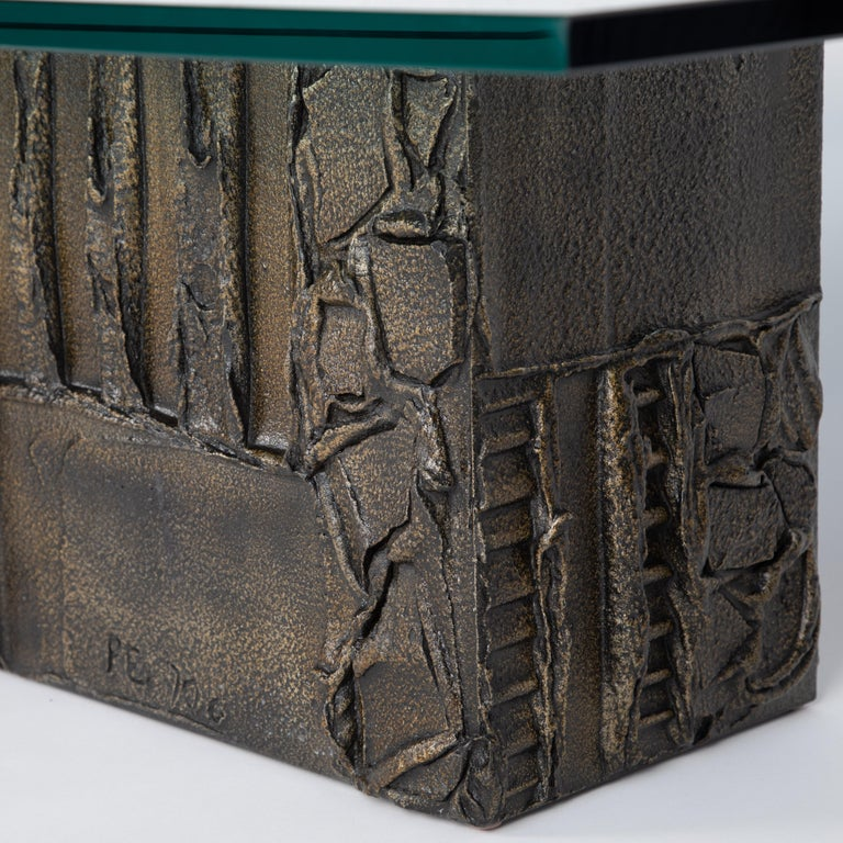 Paul Evans Sculpted Bronze Rectangular Coffee Table, 1970 For Sale 3