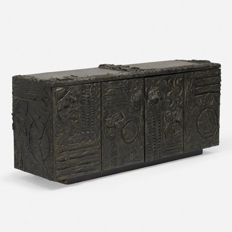 Brutalist  Paul Evans Sculpted Bronze Sideboard USA, 1970 For Sale