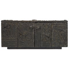 Paul Evans Sculpted Bronze Sideboard USA, 1970