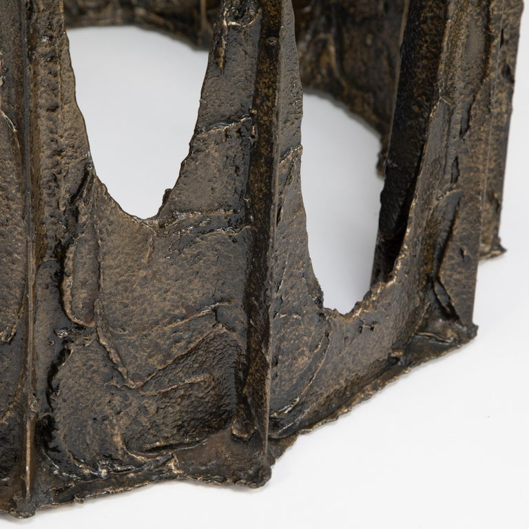 Paul Evans Sculpted Bronze Stalagmite Coffee Table, 1969 For Sale 3
