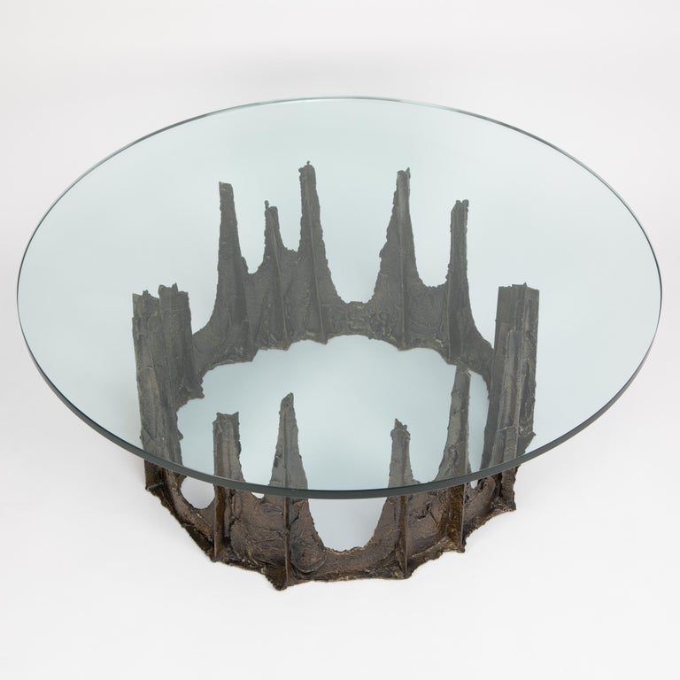 Lovely Paul Evans stalagmite coffee table from the