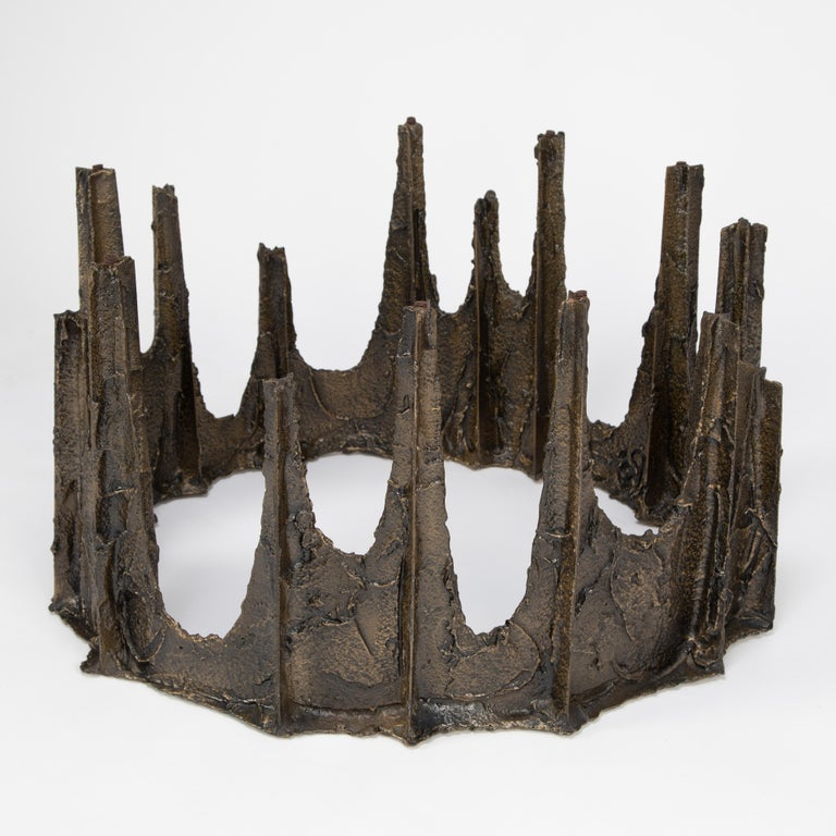 Welded Paul Evans Sculpted Bronze Stalagmite Coffee Table, 1969 For Sale