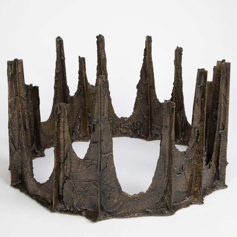 Paul Evans Sculpted Bronze Stalagmite Coffee Table, 1969 In Good Condition For Sale In Brooklyn, NY