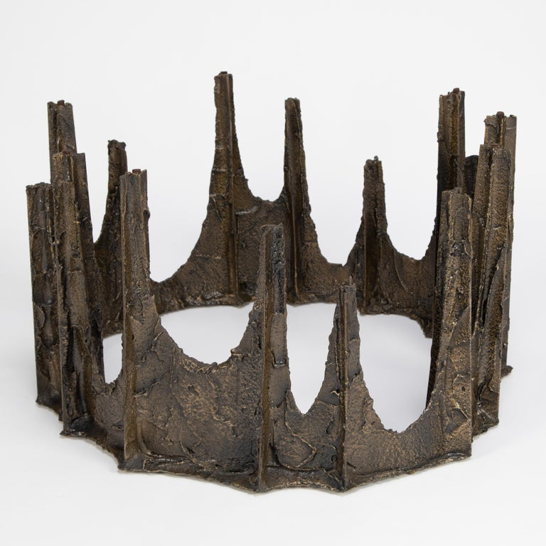 Mid-20th Century Paul Evans Sculpted Bronze Stalagmite Coffee Table, 1969 For Sale