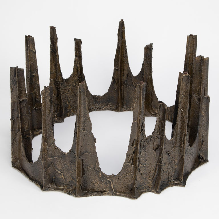 Epoxy Resin Paul Evans Sculpted Bronze Stalagmite Coffee Table, 1969 For Sale