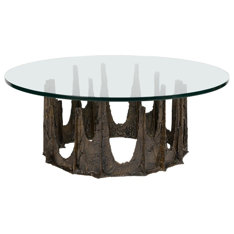Paul Evans Sculpted Bronze Stalagmite Coffee Table, 1969 For Sale