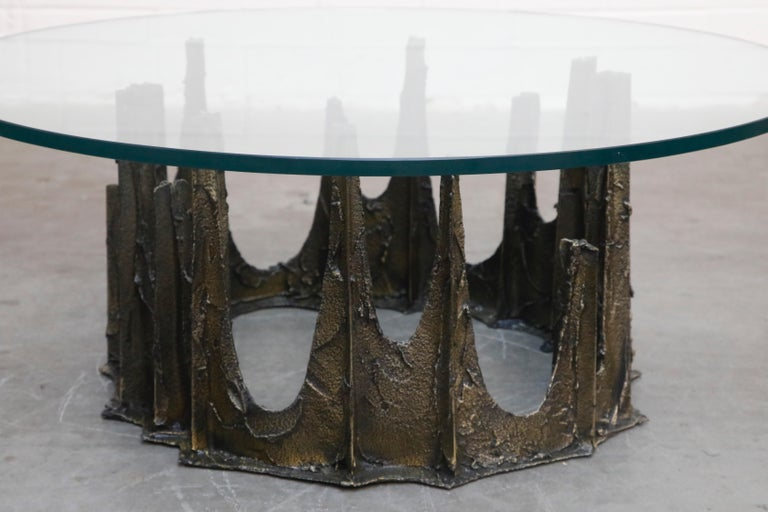 Paul Evans Sculpted Bronze Stalagmite Coffee Table, Signed and Dated 1972 For Sale 9