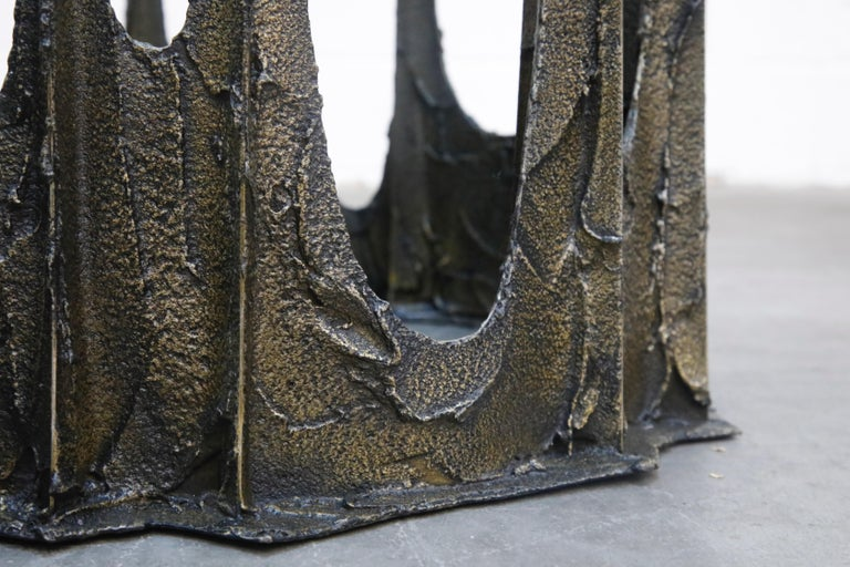 Paul Evans Sculpted Bronze Stalagmite Coffee Table, Signed and Dated 1972 For Sale 11