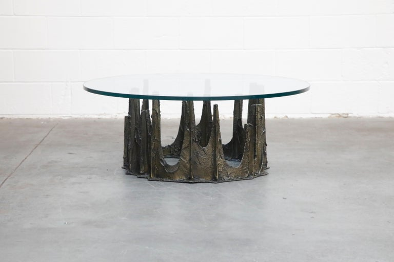 Paul Evans Sculpted Bronze Stalagmite Coffee Table, Signed and Dated 1972 In Excellent Condition For Sale In Los Angeles, CA