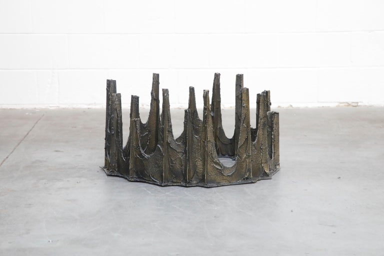 Paul Evans Sculpted Bronze Stalagmite Coffee Table, Signed and Dated 1972 For Sale 2