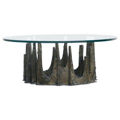 Paul Evans Sculpted Bronze Stalagmite Coffee Table, Signed and Dated 1972