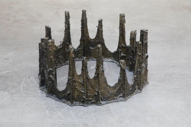 Paul Evans Sculpted Bronze Stalagmite Coffee Table, Signed and Dated 1979 For Sale 4