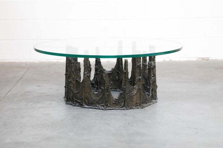 Paul Evans Sculpted Bronze Stalagmite Coffee Table, Signed and Dated 1979 For Sale 1