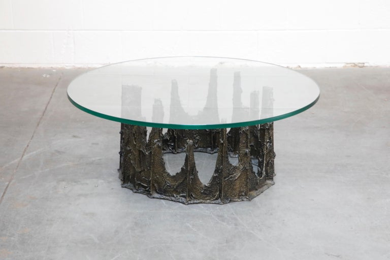 Paul Evans Sculpted Bronze Stalagmite Coffee Table, Signed and Dated 1979 For Sale 2