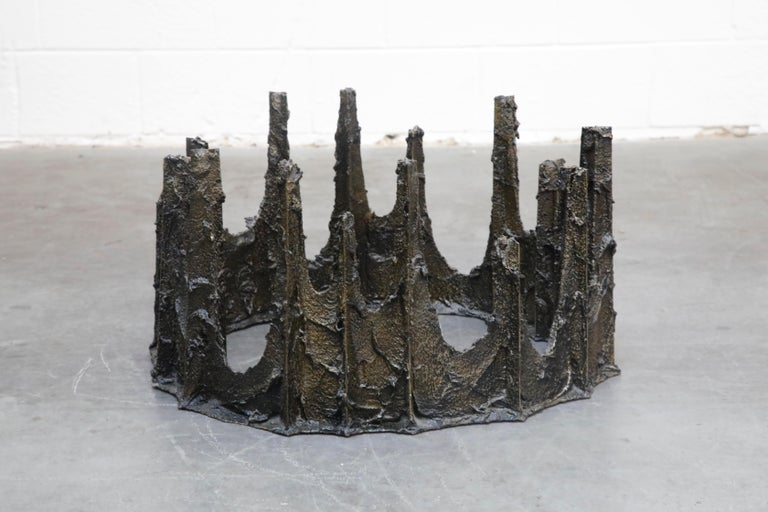 Paul Evans Sculpted Bronze Stalagmite Coffee Table, Signed and Dated 1979 For Sale 3
