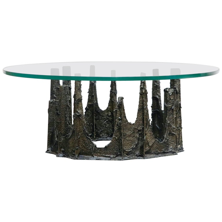 Paul Evans Sculpted Bronze Stalagmite Coffee Table, Signed and Dated 1979 For Sale