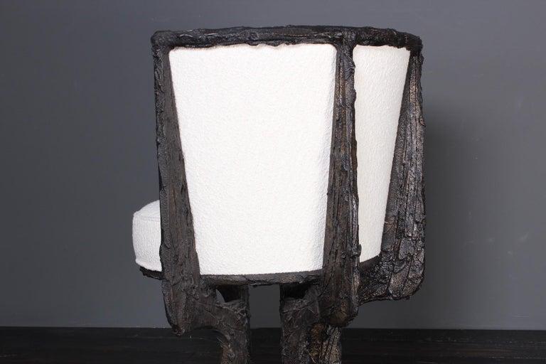 Paul Evans Sculpted Bronze Swivel Chair For Sale 6
