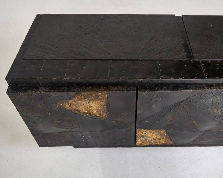Mid-20th Century  Paul Evans Brutalist  Welded Steel Cabinet, Model PE40A. For Sale