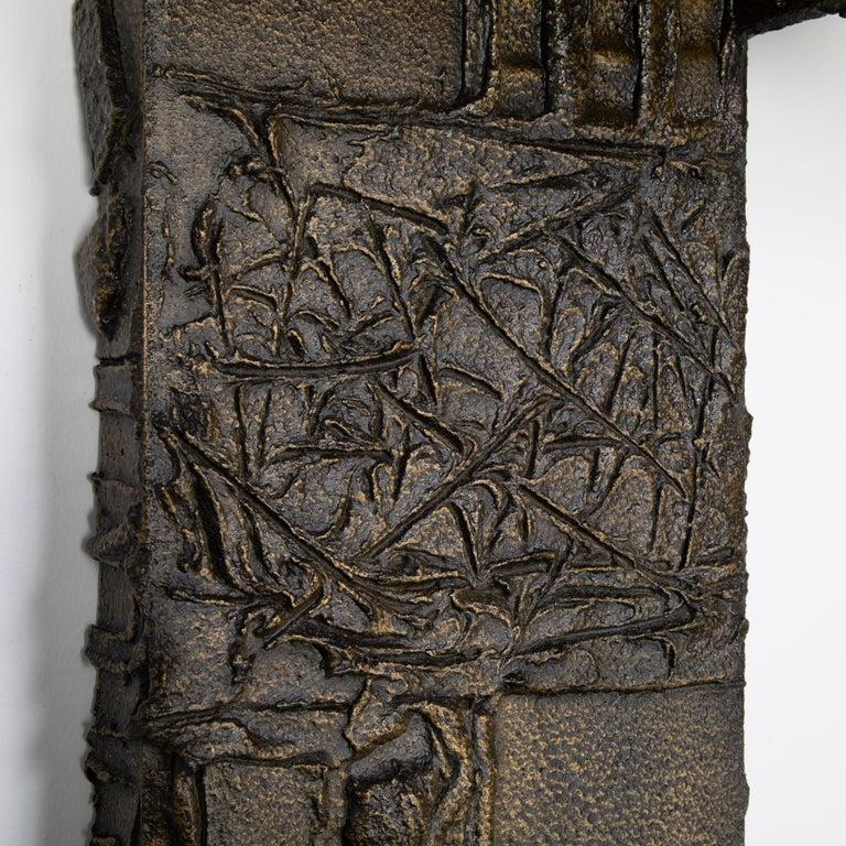 Paul Evans Sculpted Metal Shelving Unit, 1974 For Sale 4