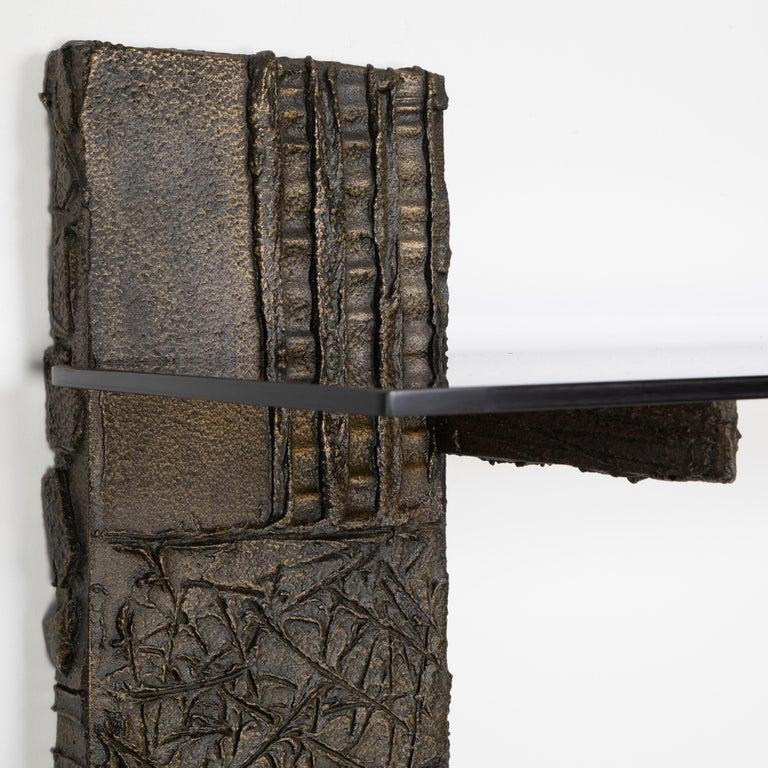 Paul Evans Sculpted Metal Shelving Unit, 1974 For Sale 7