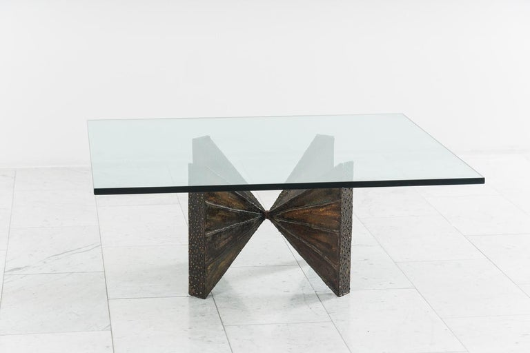Paul Evans, Sculpted Steel Cocktail Table 'PE 12-42', USA In Excellent Condition For Sale In New York, NY