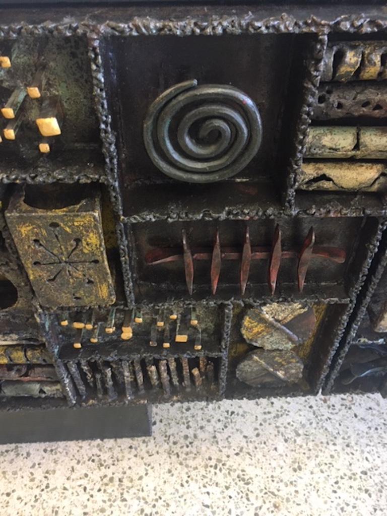 Paul Evans Sculpture Front Cabinet For Sale 4