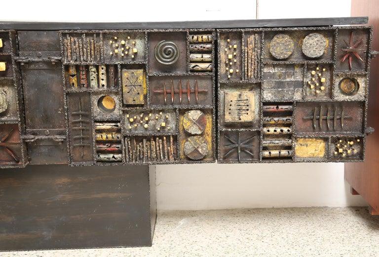 Paul Evans Sculpture Front Cabinet For Sale 5