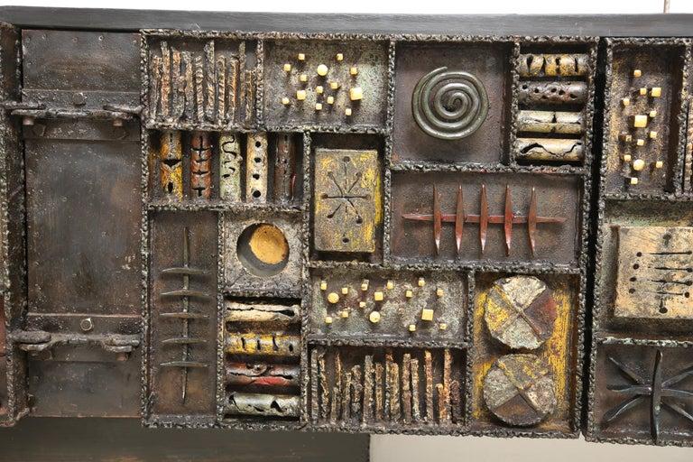 Paul Evans Sculpture Front Cabinet For Sale 8