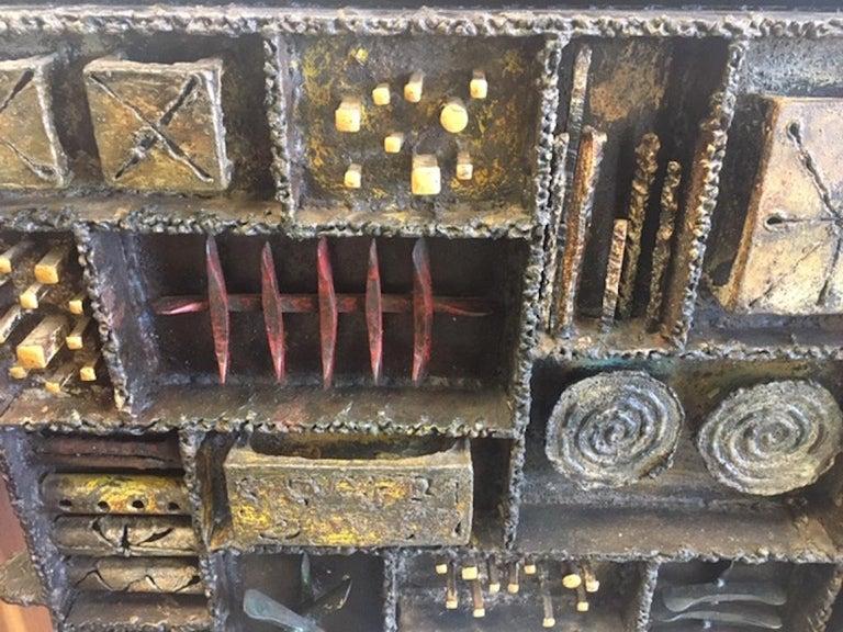 Paul Evans Sculpture Front Cabinet For Sale 9