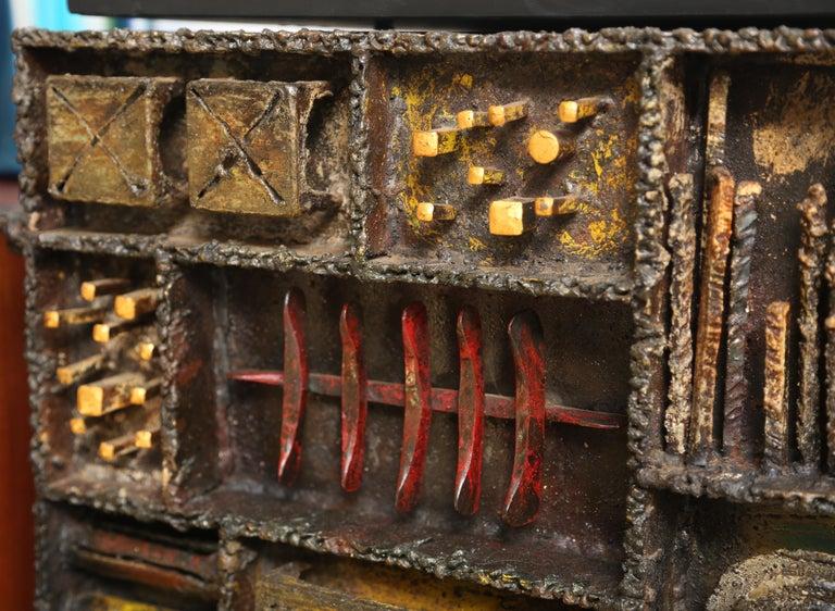 American Paul Evans Sculpture Front Cabinet For Sale