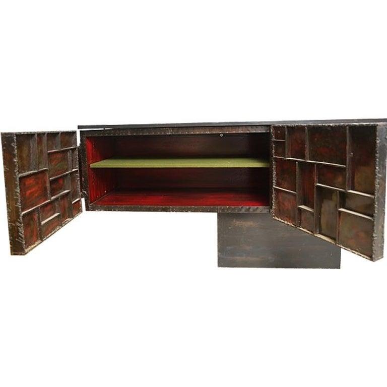 Paul Evans Sculpture Front Cabinet For Sale 2