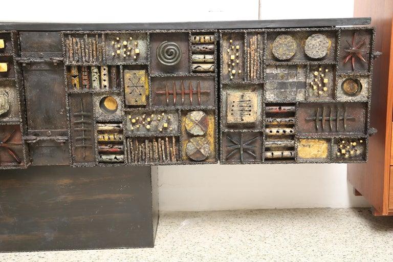 Paul Evans Sculpture Front Cabinet For Sale 1
