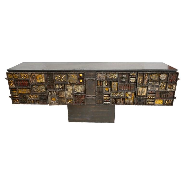 Paul Evans Sculpture Front Cabinet For Sale
