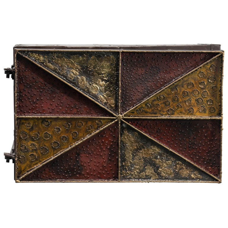 Paul Evans, Sculpture Front Wall-Mounted Cabinet, USA For Sale