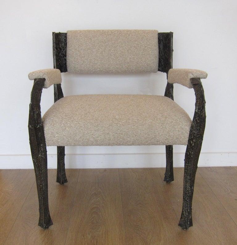 American Paul Evans Set of Twelve Brutalist Sculpted Bronze Dining Chairs