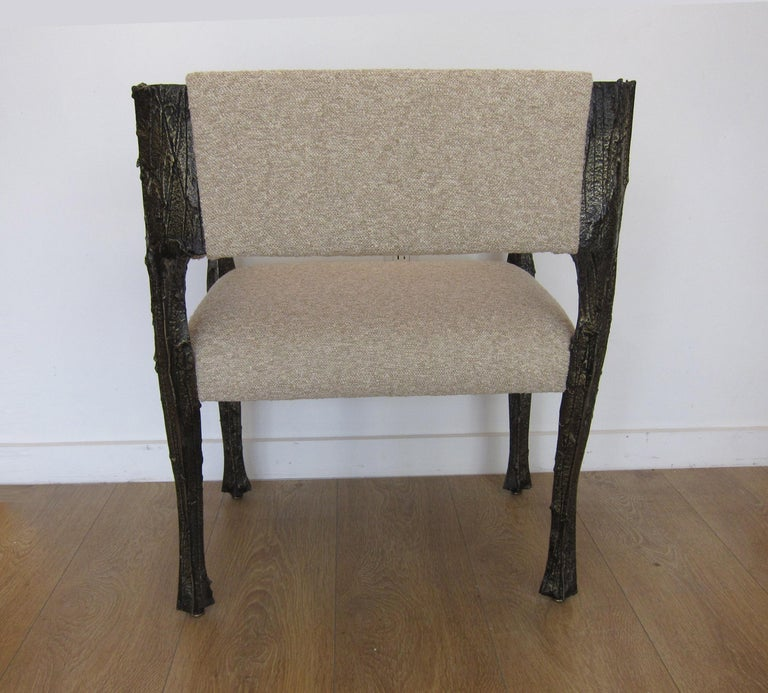 Paul Evans Set of Twelve Brutalist Sculpted Bronze Dining Chairs In Excellent Condition In Miami, FL