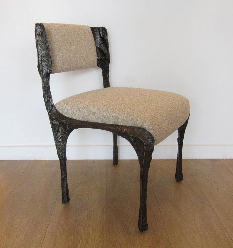 Mid-20th Century Paul Evans Set of Twelve Brutalist Sculpted Bronze Dining Chairs