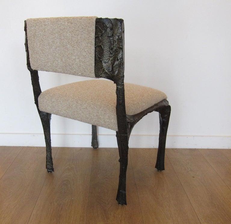 Composition Paul Evans Set of Twelve Brutalist Sculpted Bronze Dining Chairs