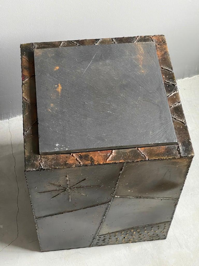 Paul Evans, Side Tables, Steel, Slate, Artists Studio for Directional, 1971 For Sale 1